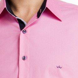 detalhe camisa masculina social reuniao rosa jean