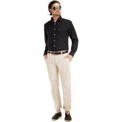 camisa maquinetada masculino social look completo