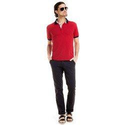detalhe camisa polo masculino buon giorno vermelho jonas look completo onde usar