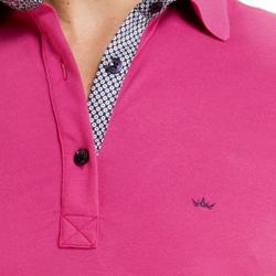 detalhe camisa polo masculina pink walter logo