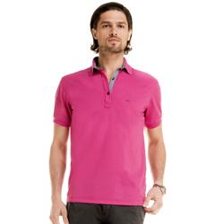detalhe camisa polo masculina pink walter logo look