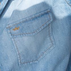 detalhe camisa jeans dione tecido