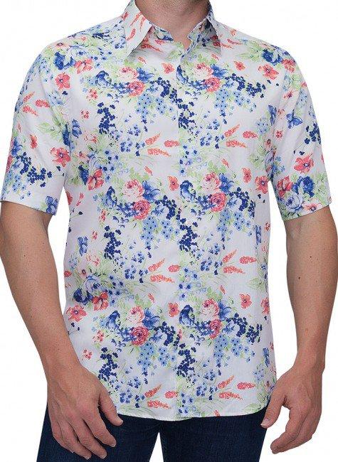 camisa estampada floral buon giorno joaquina