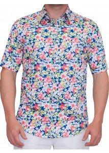 camisa floral samba hawaii buon giorno hanauma