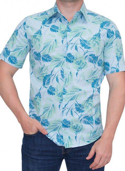 camisa estampada floral masculina buon giorno sand