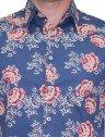 camisa floral azul buon giorno halona