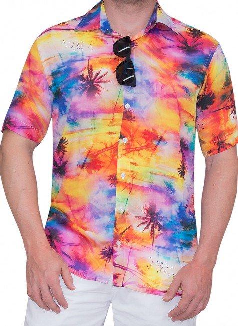 camisa floral tropical havai buon giorno kauna