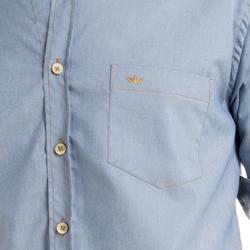 detalhe camisa jeans buon giorno luis bolso e botao