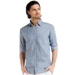 detalhe camisa jeans buon giorno luis bolso e botao look