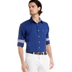 detalhe camisa azul social masculina jair buon giorno look