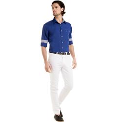 detalhe camisa azul social masculina jair buon giorno look como usar