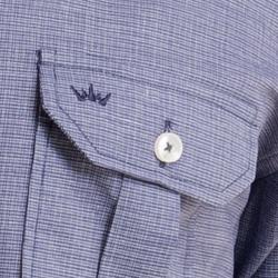 detalhe camisa azul manga curta buon giorno alex bolso
