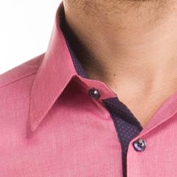 detalhe camisa social masculina buon giorno ari colariho