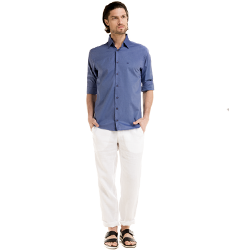 detalhe camisa social masculina buon giorno adan look completo