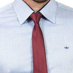 detalhe camisa social masculina azul buon giorno aldiere acabamento