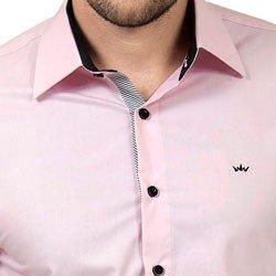 detalhe camisa rosa masculina buon giorno silvio acabamentos
