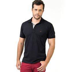 detalhe camisa polo preta masculina buon giorno cicero look