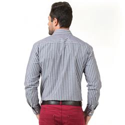 detalhe camisa listrada masculina buon giorno santhiago fio egipcio