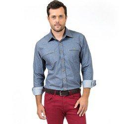 detalhe camisa jeans maquinetada buon giorno enrico look