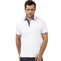 camisa polo branca buon giorno lucio detalhe marinho look
