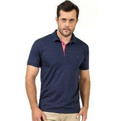 camisa polo masculina marinho maquinetada buon giorno vanderlei modelagem